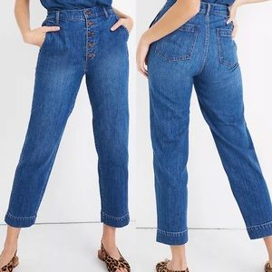 Madewell Tapered Jeans Button Front High Rise 26